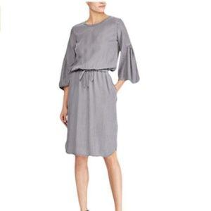 Lauren Ralph Lauren Dress Ruffle Sleeve Drawstring